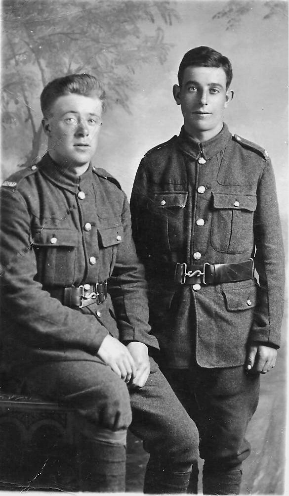 Ignatius Furey (left) died at Gallipoli; Bernard Cleary (right) died at Beaumont-Hamel
