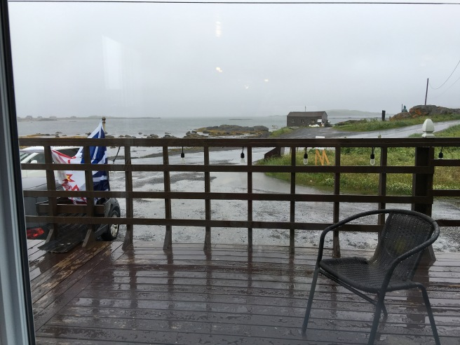 View from The Norseman; table by the window.